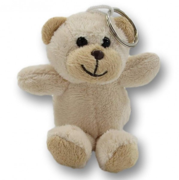 Schlüsselanhänger Bär - beige