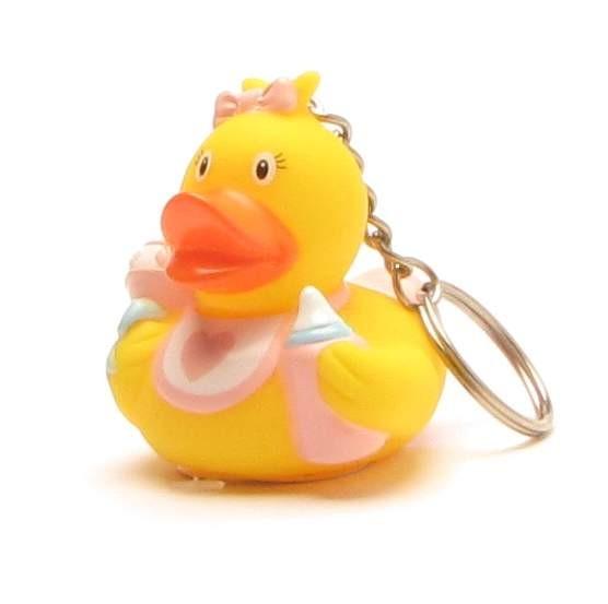 Schlüsselanhänger Baby Badeente Mädchen