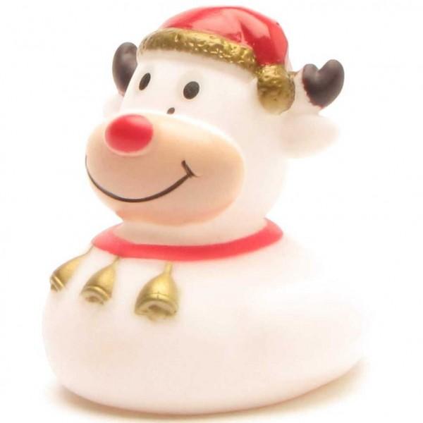 Rubber Ducky Reindeer Mini white