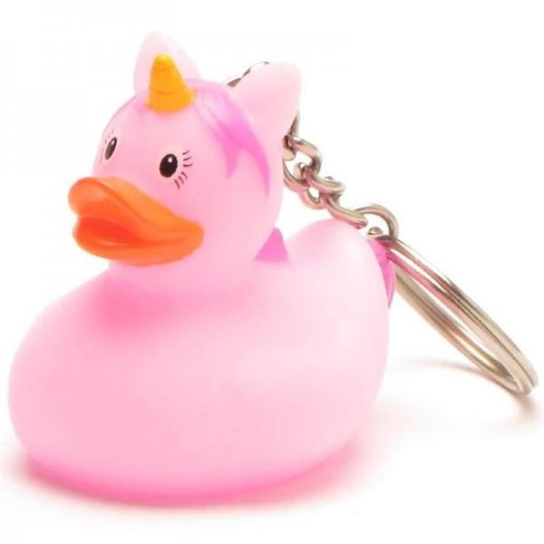 Schlüsselanhänger Einhorn Badeente - pink