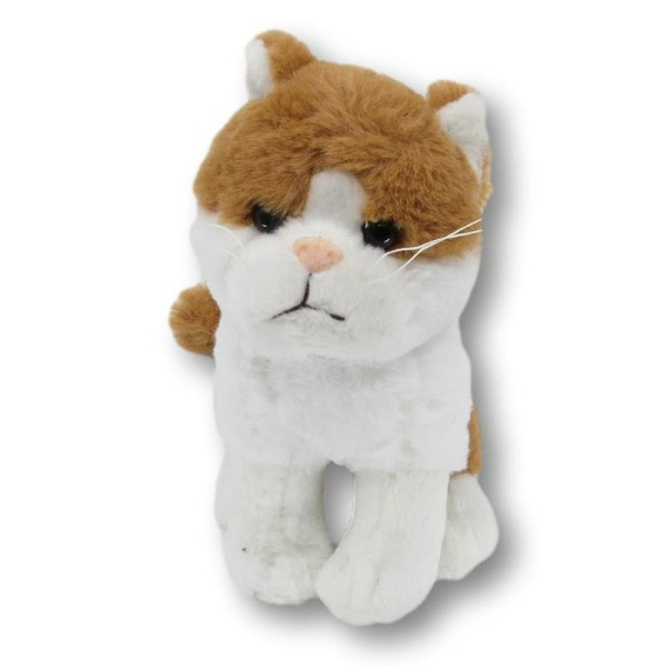 soft toy cat brown/white