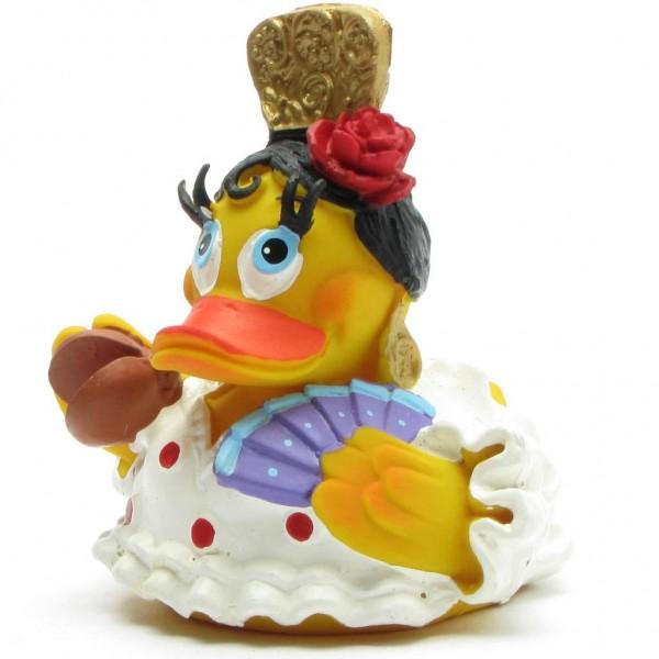 Squeaking duck Flamenco dancer - red