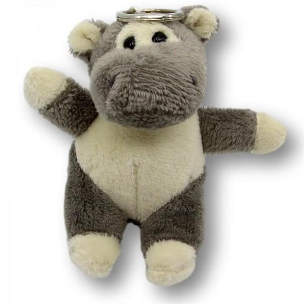 Hippo en peluche avec porte-clés