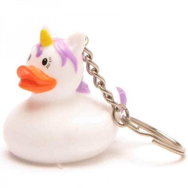 Unicorn Canard de Bain Porte-clés - pink