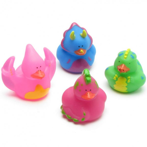 Dinosaur Rubber Ducks - Set of 4