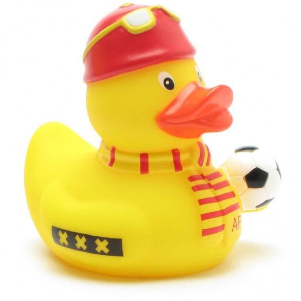 Badeend voetbal fan rood-geel