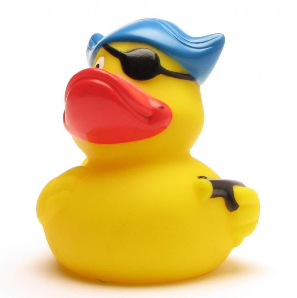 Pirate Rubber Duck blue hat + eye patch