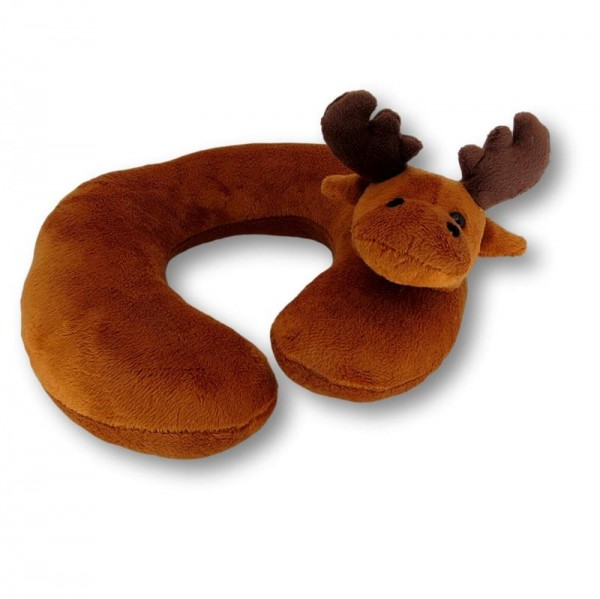 soft toy neck cushion moose for children