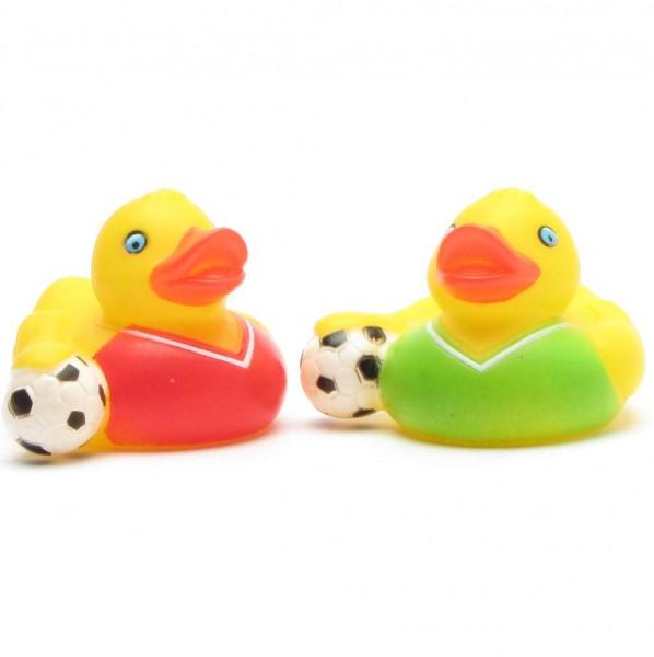 Badeend voetbal set van 2