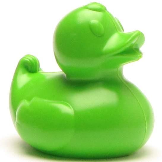 Plastic ducks 8,5 cm - green