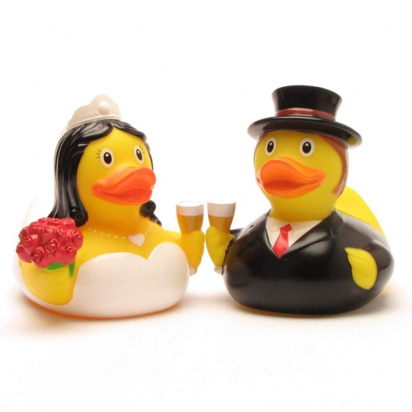 Rubber Duck bridal couple