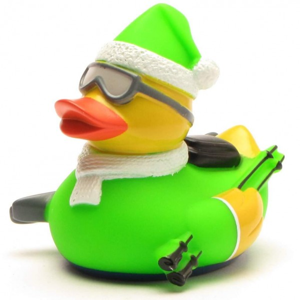 Rubber Duck skier - toxic green
