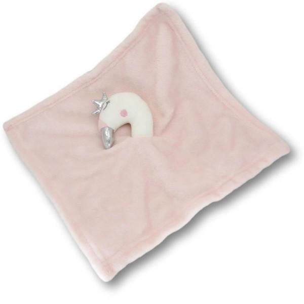 Schmusetuch Schwan pink