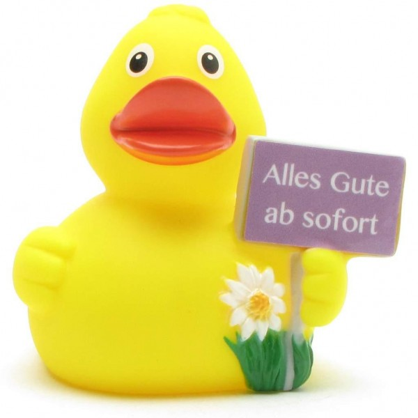 """Rubber Duck """"Alles Gute ab sofort"""""""