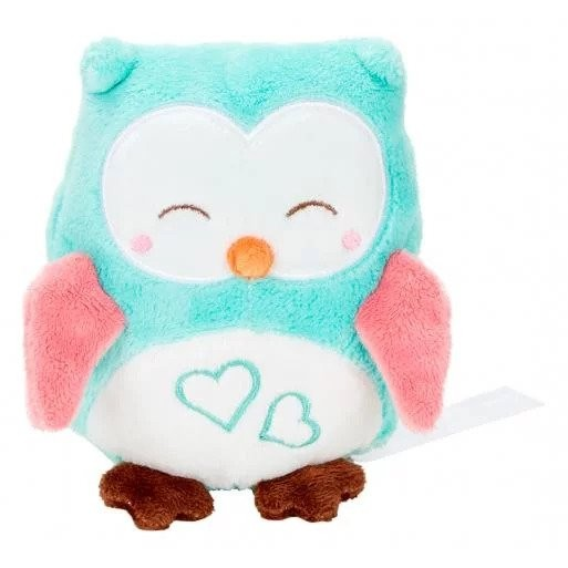 Soft toy owl with crackling foil